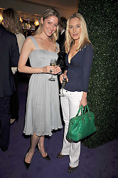 Left to right, ZOE CROOKE and IMOGEN LLOYD WEBBER at The Ralph Lauren Sony Ericsson WTA Tour Pre-Wimbledon Party hosted by Richard Branson at The Roof Gardens on June 18, 2009