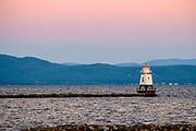 Burlington Breakwater North Lighthouse, Lake Champlain, Vermont, USA