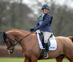 Zara Tindall riding Match My Class competes at the Land Rover Gatcombe Horse Trials on the estate of the Princess Royal.