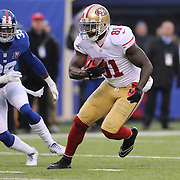 Anquan Boldin, San Francisco 49ers, in action during the New York Giants V San Francisco 49ers, NFL American Football match at MetLife Stadium, East Rutherford, NJ, USA. 16th November 2014. Photo Tim Clayton