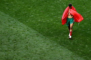 Faycal Fajr of Morocco looks dejected following his sides defeat, meaning his team are knocked out of the World Cup after the 2018 FIFA World Cup Russia group B match between Portugal and Morocco at Luzhniki Stadium on June 20, 2018 in Moscow, Russia.