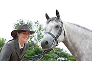 09/08/2012 Repro free first use. Elaine Creaven with her horse Tarpey  at the Connemara Pony Show in Clifden County Galway . Photo:Andrew Downes.
