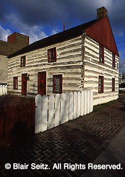 York, PA Historic Barnett Bob Log House