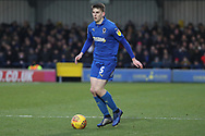 AFC Wimbledon defender Steve Seddon (15) dribbling during the EFL Sky Bet League 1 match between AFC Wimbledon and Barnsley at the Cherry Red Records Stadium, Kingston, England on 19 January 2019.