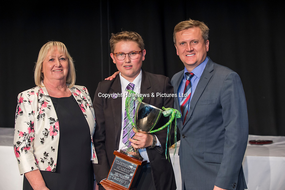 10 October 2017: Cleethorpes Academy Presentation Evening at Grimsby Auditorium. The guest speaker was Aled Jones MBE who presented the awards and also visited the Academy earlier in the day.<br /> <br /> Picture: Sean Spencer/Hull News & Pictures Ltd<br /> 01482 210267/07976 433960<br /> www.hullnews.co.uk         sean@hullnews.co.uk
