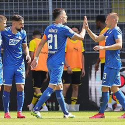 Jubel um KRAMARIC, Hoffenheim zum 0:2 gegen BÜRKI<br /> <br /> firo, Sport: Fussball: 1. Bundesliga: Saison 2019/2020, 27.06.2020,34. Spieltag,<br /> BVB, Borussia Dortmund - TSG Hoffenheim<br /> <br /> Foto: Ralf Ibing / firosportphoto / POOL/PIX-Sportfotos<br /> <br /> Nur für journalistische Zwecke! Only for editorial use! <br /> <br /> <br /> Foto © PIX-Sportfotos *** Foto ist honorarpflichtig! *** Auf Anfrage in hoeherer Qualitaet/Aufloesung. Belegexemplar erbeten. Veroeffentlichung ausschliesslich fuer journalistisch-publizistische Zwecke. For editorial use only. DFL regulations prohibit any use of photographs as image sequences and/or quasi-video.