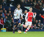 West Brom's Georgios Samaras tussles with Arsenal's Calum Chambers<br /> <br /> Barclays Premier League- West Bromwich Albion vs Arsenal - The Hawthorns - England - 29th November 2014 - Picture David Klein/Sportimage