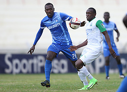Meddie Kagere of Gor Mahia in action against David Teveru of Nakumatt FC during their Sportpesa Premier League tie at Nyayo Stadium in Nairobi on August, 2, 2017. Gor won 1-0. Photo/Fredrick Omondi/www.pic-centre.com(KENYA)