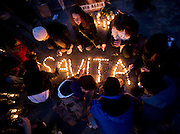 About a thousand gathered for a Vigil for  Savita Halappanavar  in Eyre square GalwayAndrew Downes