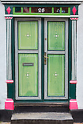 Traditional doorway on a quaint house on Funen in Denmark