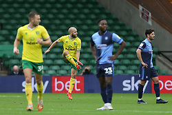 Teemu Pukki of Norwich City celebrates scoring to make it 1-0 - Mandatory by-line: Arron Gent/JMP - 24/10/2020 - FOOTBALL - Carrow Road - Norwich, England - Norwich City v Wycombe Wanderers - Sky Bet Championship