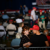 NYTDEBATE20  LITITZ, PA:  President Trump supporters await the start of a Make America Great Again! Presidential debate watch party with Vice President Mike Pence at Meadow Spring Farm in Lititz, PA on September 29, 2020.  CREDIT:  Mark Makela for The New York Times