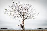 Dancer Charlotte Lanning photographed at Castle Island, Boston, MA.
