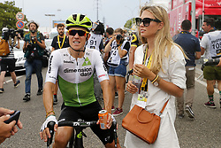 July 20, 2018 - Valence, FRANCE - Belgian Serge Pauwels of Dimension Data and his wife Ine Beyen pictured after the arrival of the 13th stage in the 105th edition of the Tour de France cycling race, from Bourg d'Oisans to Valence (169,5 km), France, Friday 20 July 2018. This year's Tour de France takes place from July 7th to July 29th. BELGA PHOTO YUZURU SUNADA - FRANCE OUT (Credit Image: © Yuzuru Sunada/Belga via ZUMA Press)