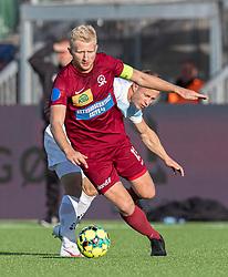 Emil Søgaard (Skive IK) under kampen i 1. Division mellem FC Helsingør og Skive IK den 18. oktober 2020 på Helsingør Stadion (Foto: Claus Birch).