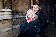 Kasia & James Pre Wedding Photographs in Lincoln, outside Lincoln Cathedral.