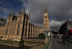 Storm clouds above the Palace of Westminster in London, as Theresa May's future as Prime Minister and leader of the Conservatives was being openly questioned after her decision to hold a snap election disastrously backfired.