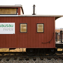 Wausau Paper caboose in Groveton, New Hampshire.