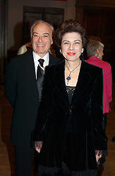 MR & MRS IVOR GORDON he is the South African jeweller at an exhibition of art entitled 'Royal Academicians in China: 2003-2005' held at the Royal Academy of Arts, Burlington House, Piccadilly, London on 11th January 2005.<br /><br />NON EXCLUSIVE - WORLD RIGHTS