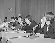 Y-650822-A-08 Beatles at Memorial Coliseum press conference. August 22, 1965