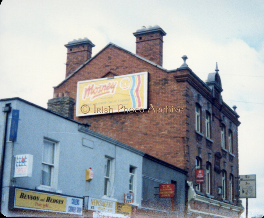 Old Dublin Amature Photos 1980s With Martello Tower, seaside, Veranda, Mosney, Advertisment, Benson and Hedges, Newsagent,