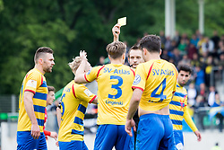 May 25, 2019 - Hanover, Lower Saxony, Germany - Referee Axel Martin gives the yellow card to  a player of SV Atlas Delmenhorst during the Lower Saxony Cup Final between TuS Bersenbrück and SV Atlas Delmenhorst at Eilenriedestadium on May 25, 2019 in Hanover, Germany. (Credit Image: © Peter Niedung/NurPhoto via ZUMA Press)