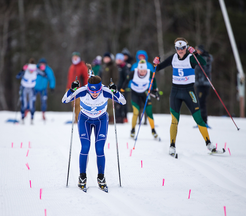 Olivia Amber of Colby College during the Colby College Winter Carnival 15 Kilometer Classic Mass Start at Quarry Road on January 23, 2016 in Waterville, ME. (Dustin Satloff)