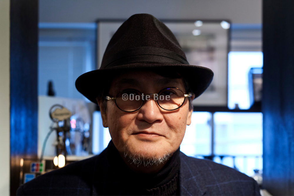 Film director Hayashi Kaizo at galerie LIBRAIRIE 6 during his exhibition Tokyo February 2018