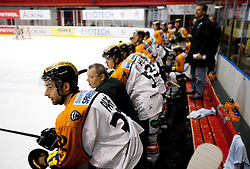Jean Philippe Pare of Graz during ice hockey match between HK Acroni Jesenice and  Moser Medical Graz 99ers in 24th Round of EBEL league, on December 3, 2010 in Arena Podmezakla, Jesenice, Slovenia.  (Photo By Vid Ponikvar / Sportida.com)