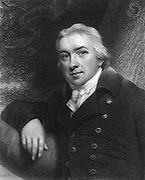 Edward Jenner (1749-1823) English physician.  Jenner practiced as a country doctor in his native Gloucestershire.  He noted that immunity to smallpox was given by cowpox.  In 1796 he vaccinated James Phipps a number of times with puss from cowpox pustules on a dairy maid. He than innoculated him with smallpox. The boy was ill for a few days, then recovered.  From 'The Gallery of Portraits' by Charles Knight, (London, 1837).