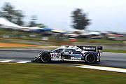 Patrick Dempsey, Joe Foster and Dane Cameron, Dempsey Racing (P2) Judd Lola B12/87 , Petit Le Mans. Oct 18-20, 2012. © Jamey Price