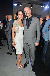 YASMIN MILLS and JUSTIN HORNE at the Maserati Levante VIP Launch party held at the Royal Horticultural Halls, Vincent Square, London on 26th May 2016.