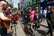 17/05/2019 MEP Candidate Maria Walsh got a big push from party leader and Taoiseach Leo Varadkar in Galway as the team canvassed the town  with  the Galway 2020 Capital of Culture Logo on Shop street . Photo:Andrew Downes, Xposure