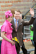 Koninginnedag 2008 / Queensday 2008. <br /> <br /> Koningin Beatrix viert Koninginnedag dit jaar in Friesland. De vorstin en haar familie bezochten op 30 april Makkum en Franeker.<br /> <br /> Queen Beatrix celebrates Queensday this year in Friesland (the Nothren provice in Holland). The Queen and its family visited Makkum and Franeker on 30 April.<br /> <br /> Op de foto/ On the Photo: Princes Laurentien and Prince Constantijn / Prinses Laurentien en Prins Constantijn