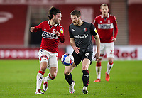 Middlesbrough's Patrick Roberts battles with Rotherham United's Ben Wiles<br /> <br /> Photographer Alex Dodd/CameraSport<br /> <br /> The EFL Sky Bet Championship - Middlesbrough v Rotherham United - Wednesday 27th January 2021 - Riverside Stadium - Middlesbrough<br /> <br /> World Copyright © 2021 CameraSport. All rights reserved. 43 Linden Ave. Countesthorpe. Leicester. England. LE8 5PG - Tel: +44 (0) 116 277 4147 - admin@camerasport.com - www.camerasport.com
