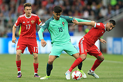 21st June 2017 - FIFA Confederations Cup (Group A) - Russia v Portugal - Andre Gomes of Portugal battles with Aleksandr Samedov of Russia - Photo: Simon Stacpoole / Offside.