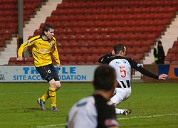 Falkirk's Blair Alston (8) scoring their goal..Dunfermline 0 v 1 Falkirk, 26/12/2012..©Michael Schofield.
