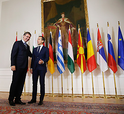 """24.09.2016, Bundeskanzleramt, Wien, AUT, Gipfeltreffen unter dem Titel """"Migration entlang der Balkanroute"""", im Bild v.l.n.r. Premierminister Serbien Aleksandar Vueiae and Bundeskanzler Christian Kern (SPÖ) // f.l.t.r. Primeminister of Serbia Aleksandar Vueiae and Federal Chancellor of Austria Christian Kern during """"Migration along the Balkan route"""" Summit in Vienna, Austria on 2016/09/24, EXPA Pictures © 2016, PhotoCredit: EXPA/ BKA/ Andy Wenzel <br /> <br /> ***** VOLLSTÄNDIGE COPYRIGHTNENNUNG VERPFLICHTEND // MANDATORY CREDIT *****"""