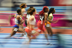 March 2, 2018 - Birmingham, England, United Kingdom - Michelle-Lee Ahye ofTrinidad and Tobago at 60 meter semi final at World indoor Athletics Championship 2018, Birmingham, England on March 2, 2018. (Credit Image: © Ulrik Pedersen/NurPhoto via ZUMA Press)