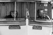 "Henley-on-Thames. United Kingdom.  2017 Henley Royal Regatta, Henley Reach, River Thames. <br /> ""Messing about on the River"" Forward cockpit, Day Boat, chatting.<br /> <br /> <br /> 15:32:45  Sunday  02/07/2017   <br /> <br /> [Mandatory Credit. Peter SPURRIER/Intersport Images."