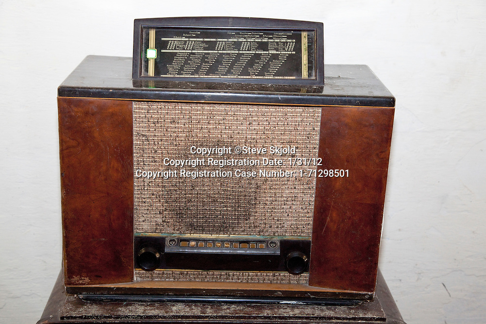 German push button radio capable of broadcast reception from around the world in Hitler's WWII Bunker. Konewka Central Poland