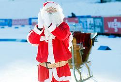 Santa Claus during Men 12,5 km Pursuit at day 3 of IBU Biathlon World Cup 2014/2015 Pokljuka, on December 20, 2014 in Rudno polje, Pokljuka, Slovenia. Photo by Vid Ponikvar / Sportida