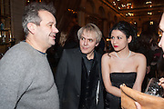 MARK HIX; NICK RHODES; NEFER SUVIO, Panta Rhei. An exhibition of work by Keith Tyson. The Pace Gallery. Burlington Gdns. 6 February 2013.
