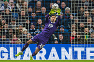 Jonathan Bond (GK) (West Brom) saving the ball during the FA Cup fourth round match between Brighton and Hove Albion and West Bromwich Albion at the American Express Community Stadium, Brighton and Hove, England on 26 January 2019.
