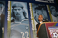 28 August 2006: U.S. Soccer Federation president Sunil Gulati. The National Soccer Hall of Fame Induction Ceremony was held at the National Soccer Hall of Fame in Oneonta, New York.