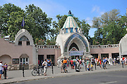 Eastern Europe, Hungary, Budapest, entrance to the zoo