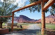 Sorrel River Ranch road entrance, Moab, Utah, United States of America