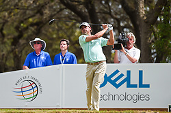 March 24, 2018 - Austin, TX, U.S. - AUSTIN, TX - MARCH 24: Kevin Kisner hits a tee shot during the quarterfinals of the WGC-Dell Technologies Match Play on March 24, 2018 at Austin Country Club in Austin, TX. (Photo by Daniel Dunn/Icon Sportswire) (Credit Image: © Daniel Dunn/Icon SMI via ZUMA Press)