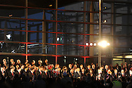 Wales rugby team celebrations outside the Senedd, Cardiff Bay on Monday 19th March 2012. pic by Andrew Orchard, Andrew Orchard sports photography