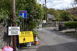 Local elections, Tintern, Wye Valley, Wales May 2021